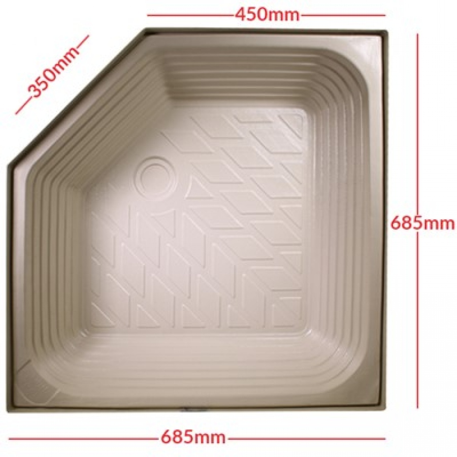 Atlas Extra Deep Plastic Angled Shower Tray